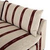 Galene Striped Sectional with Corner