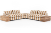 Galene Striped Sectional with Corner + End Table