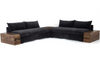 Galene 2-Piece Sectional with Corner & End - Rustic Brown