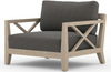 Halvor Washed-Brown Outdoor Chair