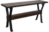 "Industrial 66"" Reclaimed Wood Console Table"