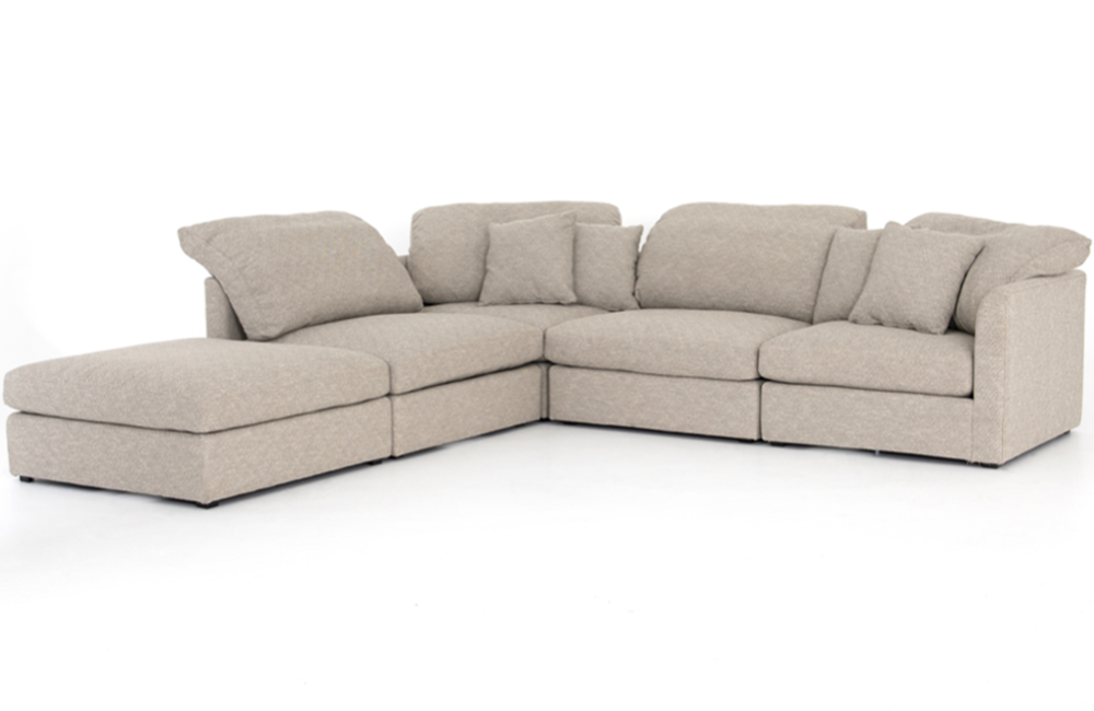 Wondrous Isabela 4 Piece Sectional With Ottoman Pabps2019 Chair Design Images Pabps2019Com