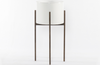 Julian Tall Planter - Ivory White