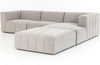 Launo 3-Piece Right-Arm Sectional with Ottoman