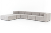 Launo 4-Piece Left-Arm Sectional with Ottoman
