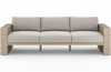 Layton Washed-Brown Outdoor Sofa