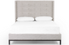 Nadine Tall Ivory Grey Bed