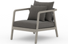 Novak Weathered Grey Outdoor Chair
