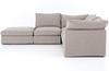 Paloma 4-Piece Sectional with Ottoman