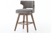 Raymond Grey Swivel-Base Counter Stool