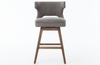 Tamia Grey Swivel-Base Counter Stool