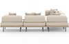 Yamila 5-Piece Sectional with Coffee Table