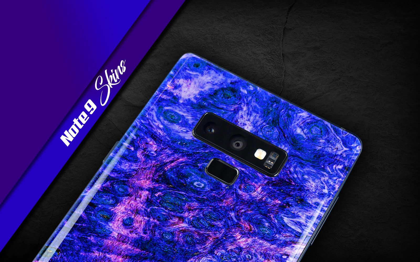 Samsung Galaxy Note 9 decorative mobile phone skins, phone wraps.  Create your own Note 9 skin online.  New unique custom decals and styles for your Galaxy Note 9.