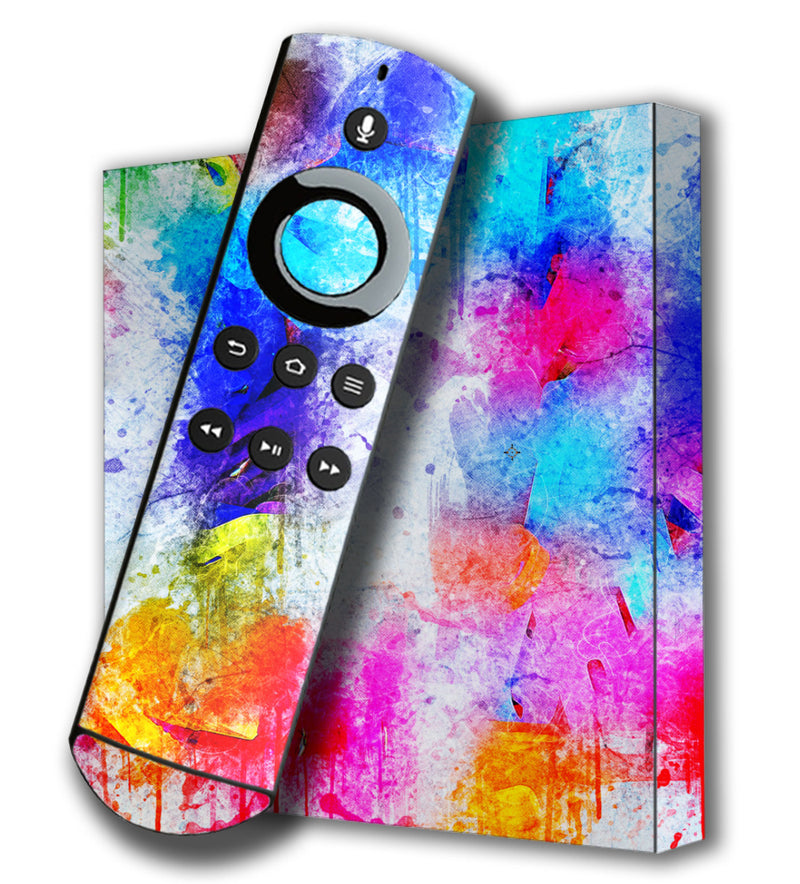 Amazon Fire TV 4K Skins Paint Splatter - JW Skinz