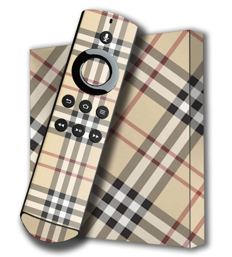 Amazon Fire TV 4K Skins Plaid - JW Skinz