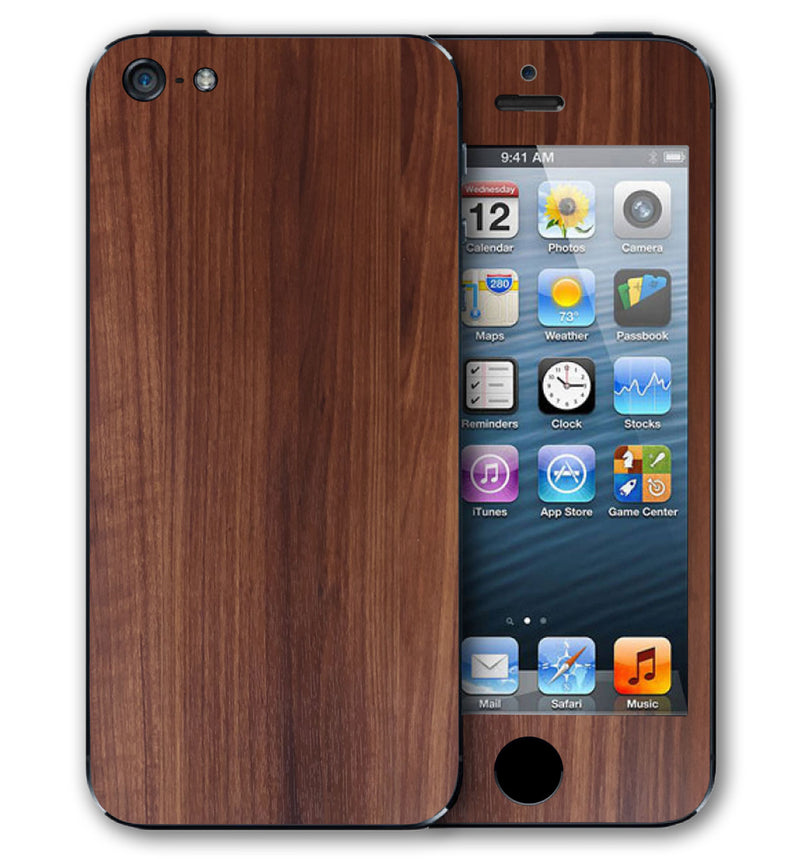 iPhone 5 S / SE Phone Skins Wood Grain - JW Skinz