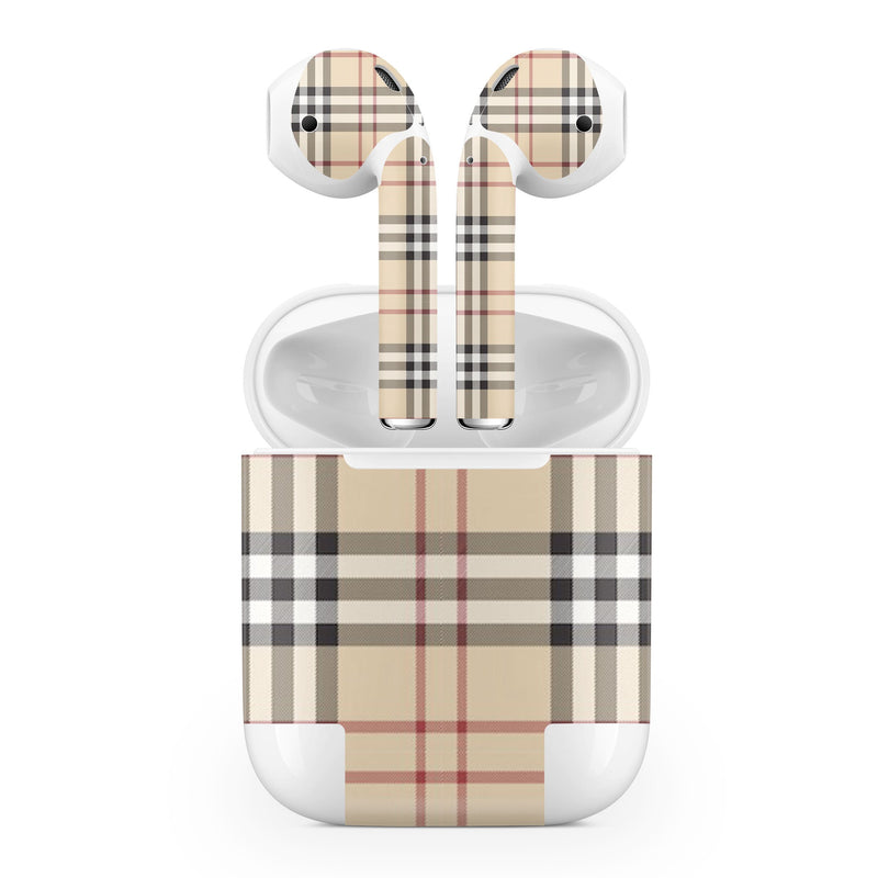 Apple AirPod Skins Plaid