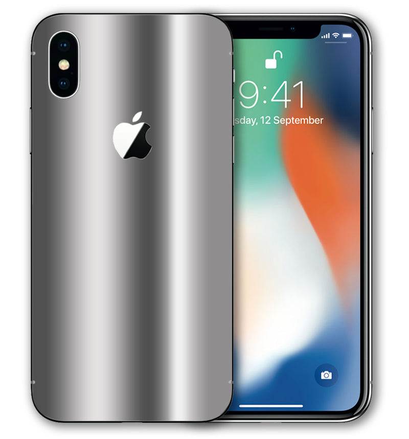 iPhone X Phone Skins Chrome