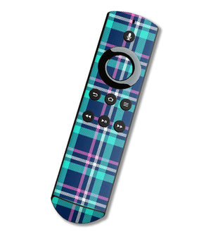Fire TV Alexa Remote Skins Plaid - JW Skinz