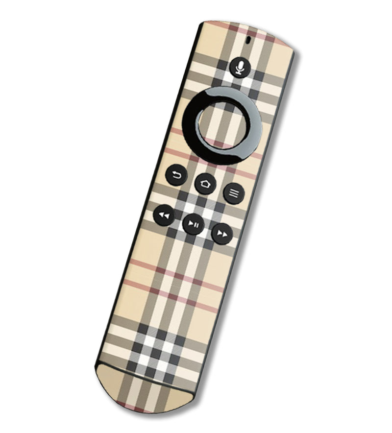 Fire TV Alexa Remote Skins Plaid