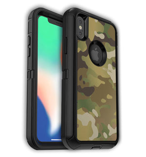 OtterBox Defender with Logo Cutout iPhone Xs Max Custom Multicam Skin