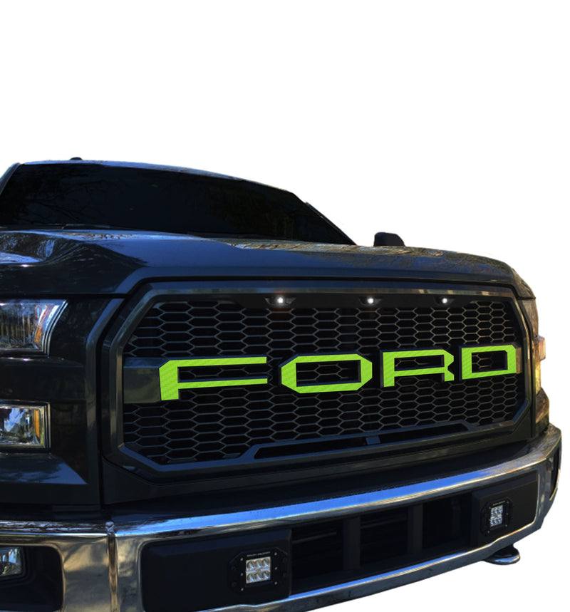 Ford F-150 (2015-2017) Grill Paramount Styling Skin Carbon Fiber - JW Skinz