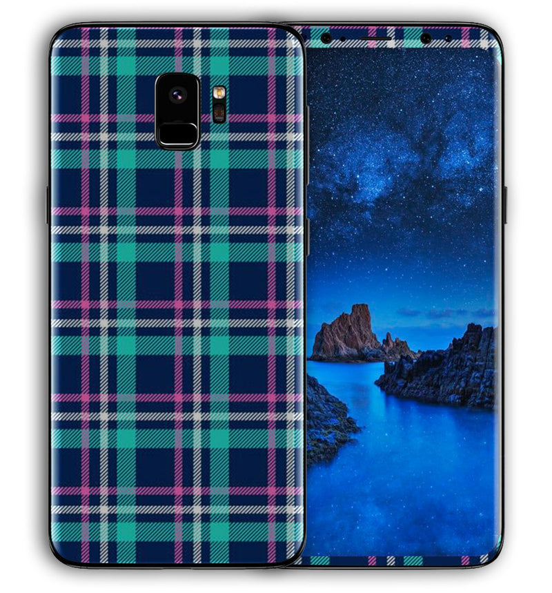 Galaxy S9 Phone Skins Plaid - JW Skinz