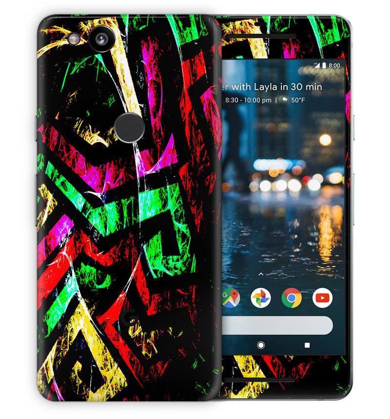Google Pixel 2 Phone Skins Abstract - JW Skinz