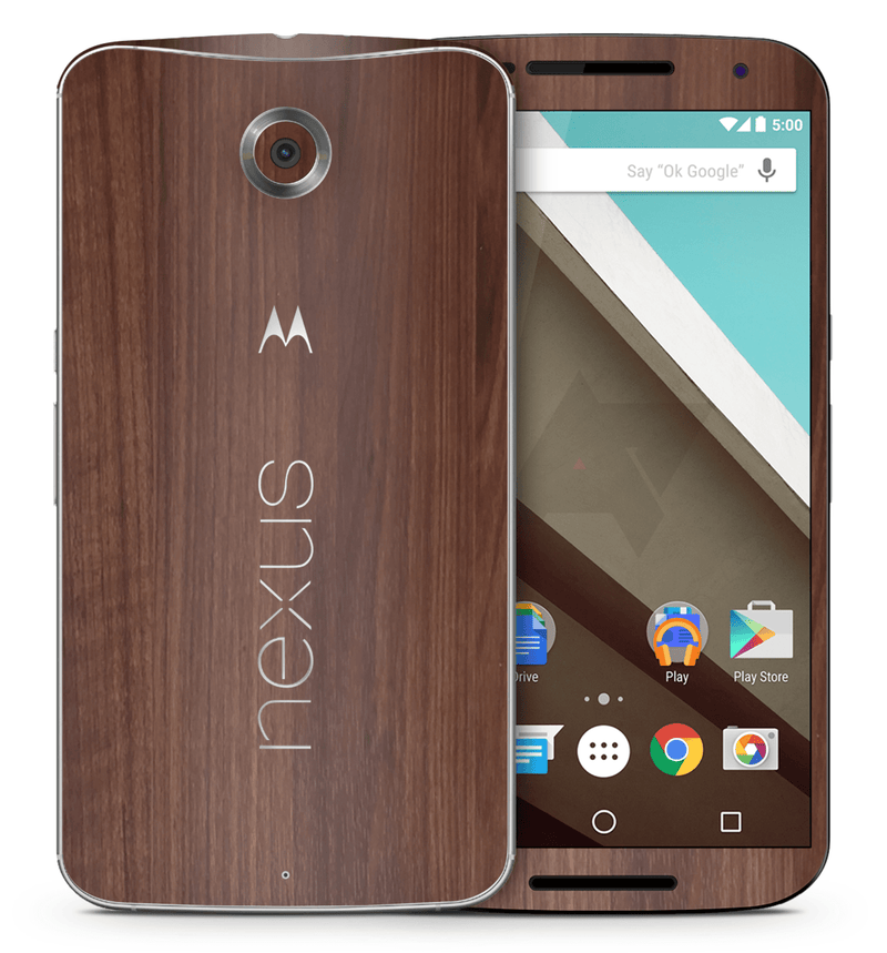 Google Nexus 6 Woodgrain Collection - JW Skinz
