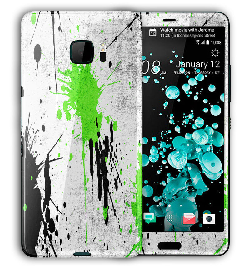 HTC U Ultra Phone Skins Paint Splatter - JW Skinz