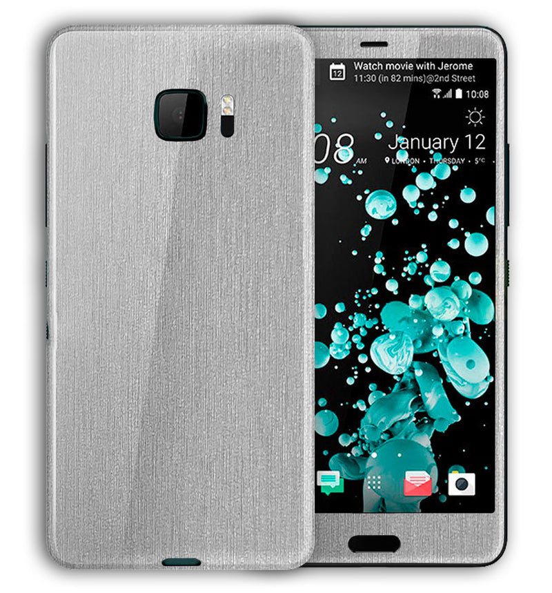 HTC U Ultra Phone Skins Brushed Aluminum - JW Skinz