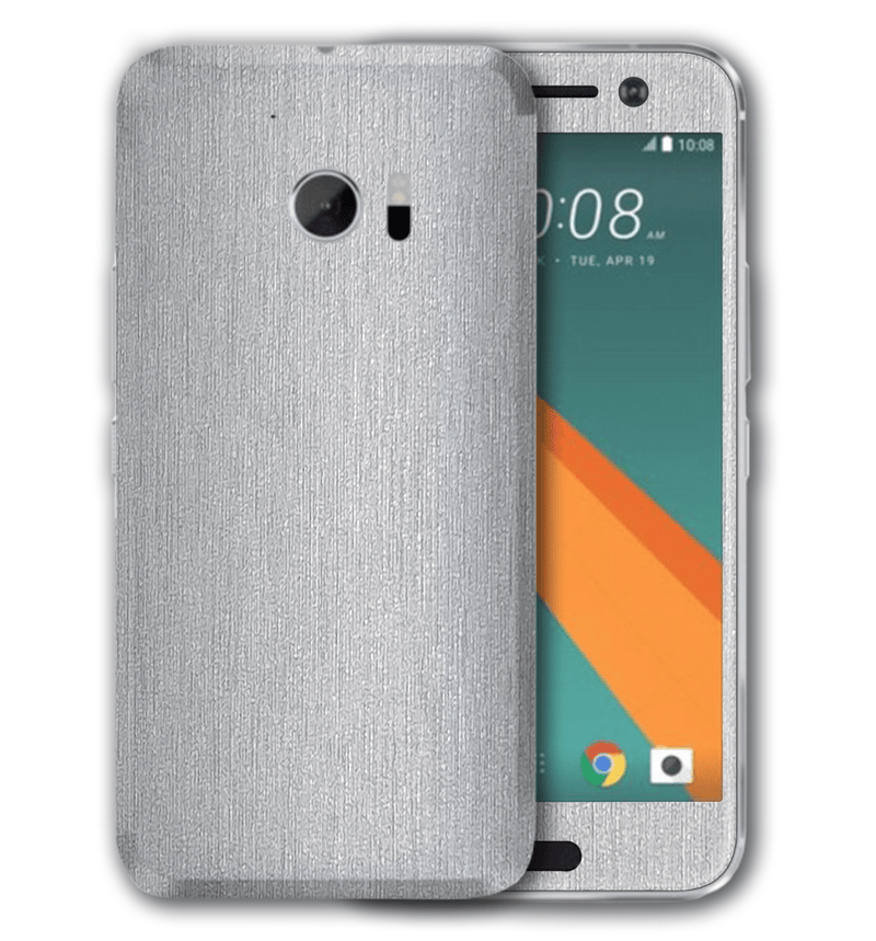 HTC 10 Brushed Aluminum Collection - JW Skinz