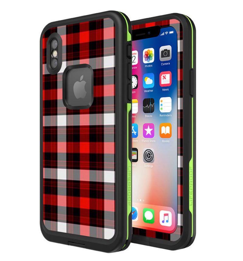 LifeProof FRE Skin iPhone X Plaid - JW Skinz
