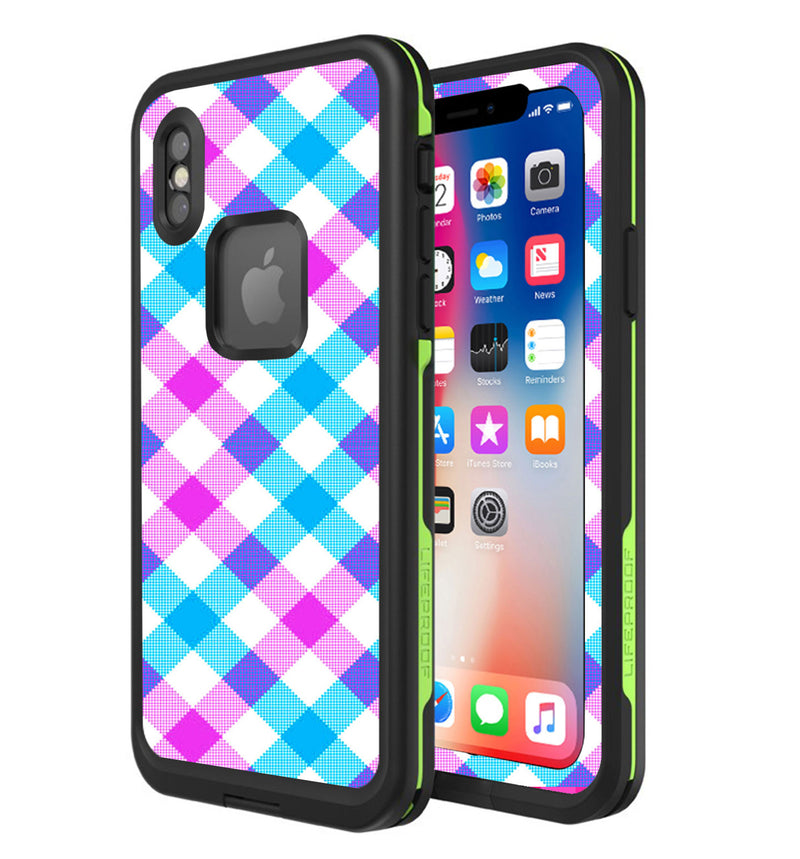 LifeProof FRE Skin iPhone X Plaid