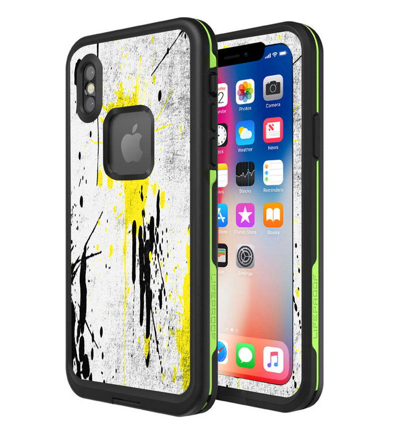LifeProof FRE Skin iPhone X Paint Splatter