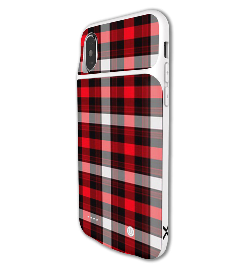 LUX Skin iPhone X Plaid - JW Skinz