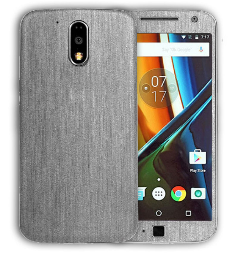 Moto G4 Plus Brushed Aluminum Collection - JW Skinz