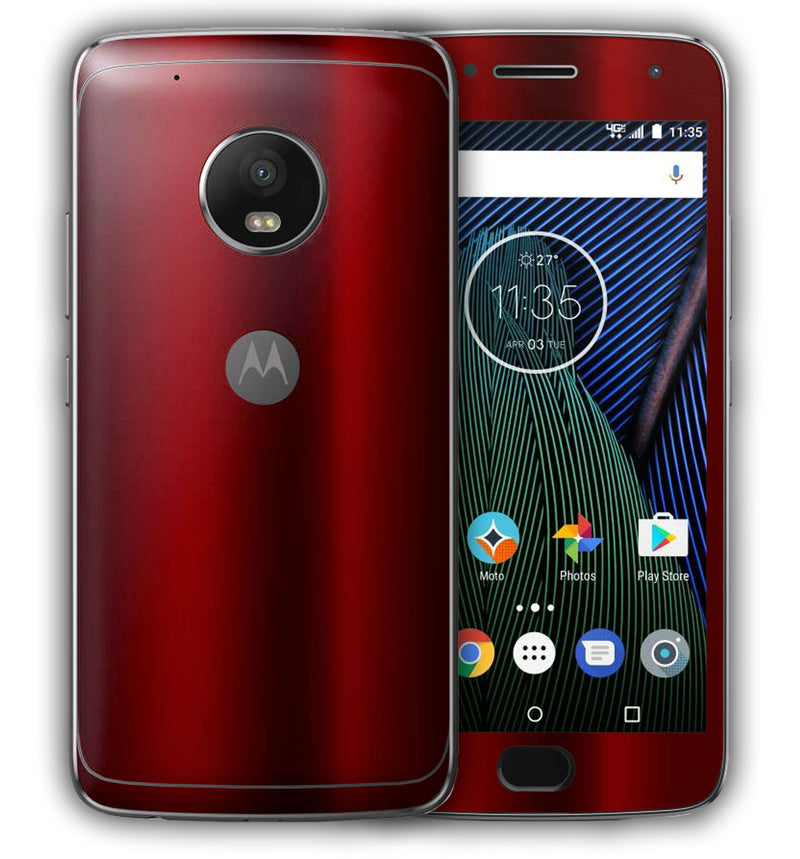 Moto G5 Plus Phone Skins Chrome - JW Skinz