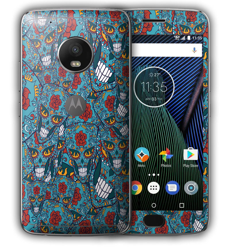 Moto G5 Plus Sugar Skulls Collection - JW Skinz