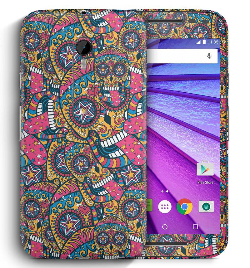 Moto G3 Sugar Skulls Collection - JW Skinz