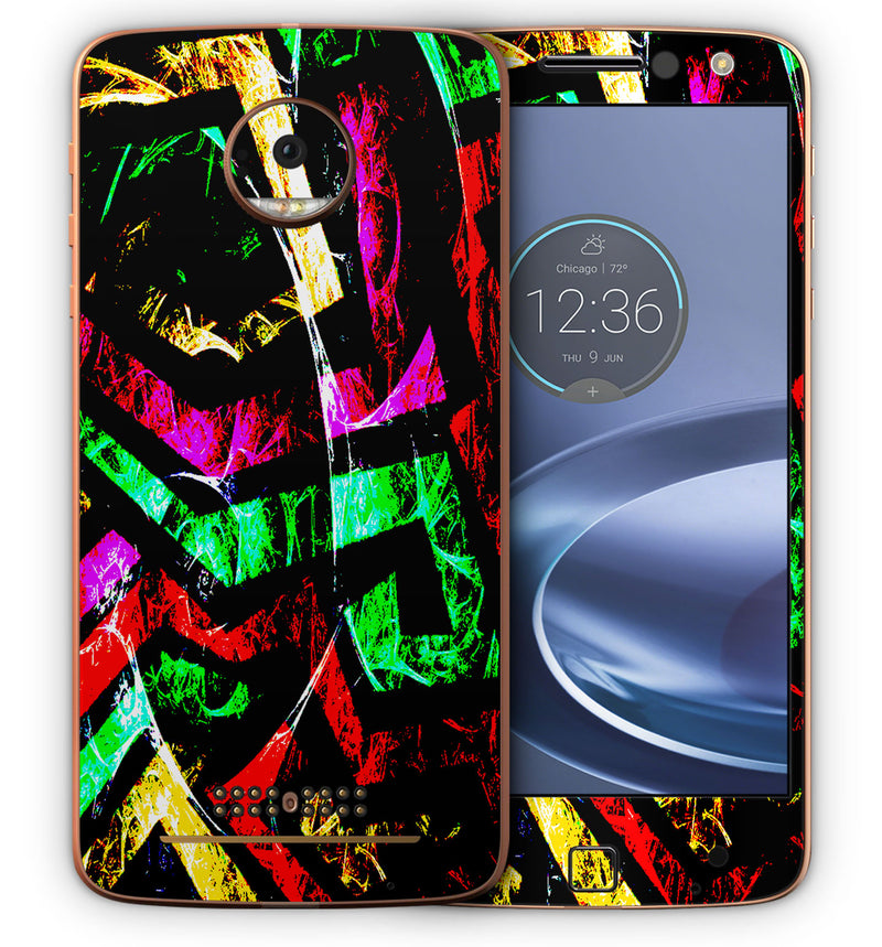 Moto Z Force Phone Skins Abstract - JW Skinz