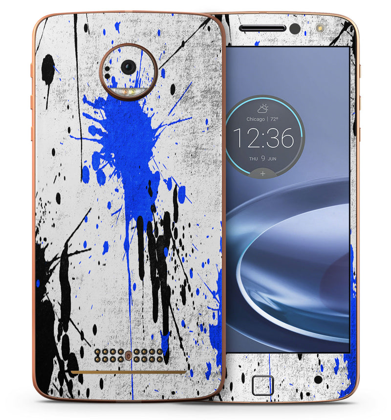 Moto Z Force Phone Skins Paint Splatter - JW Skinz