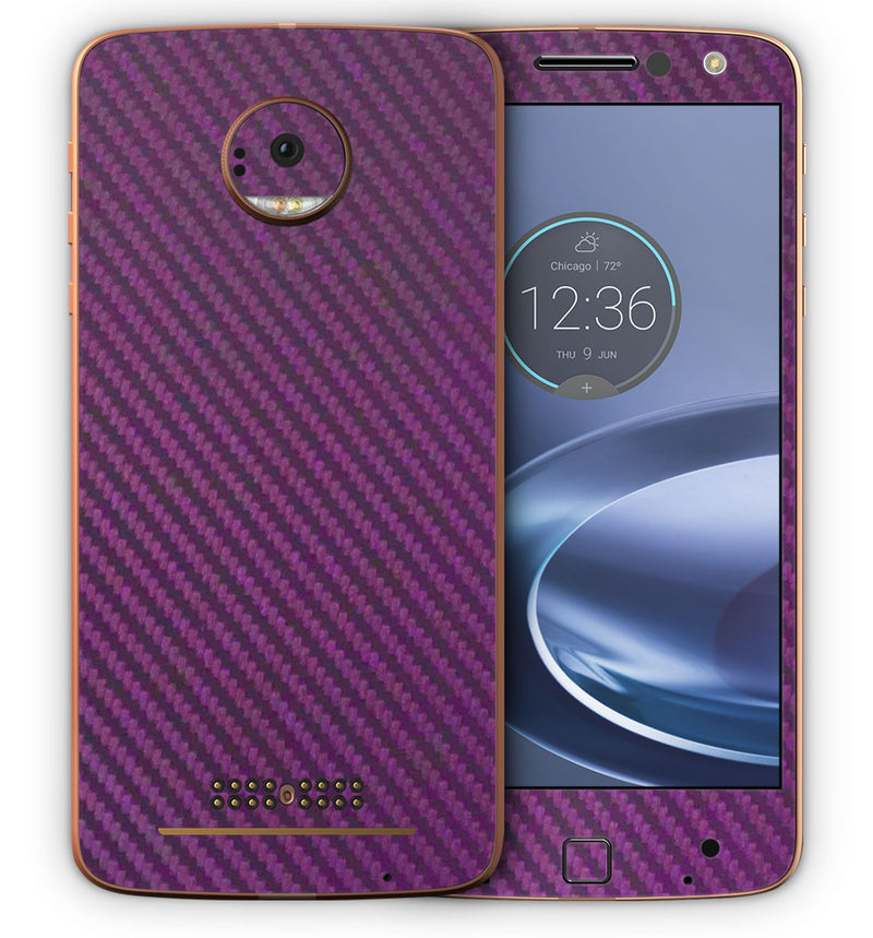 Moto Z Force Phone Skins Carbon - JW Skinz