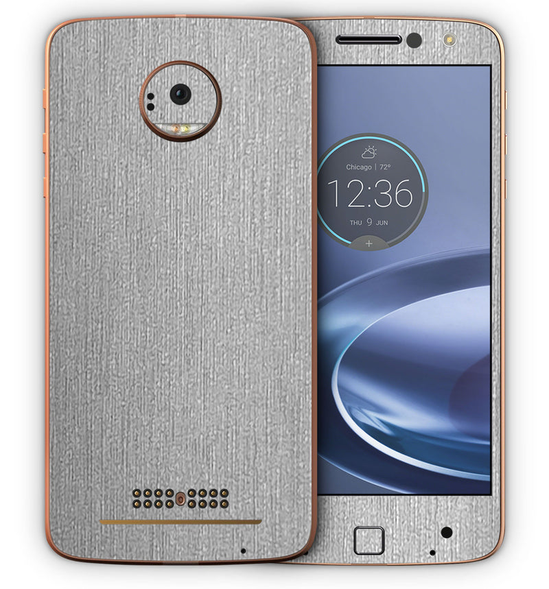 Moto Z Force Phone Skins Brushed Aluminum - JW Skinz