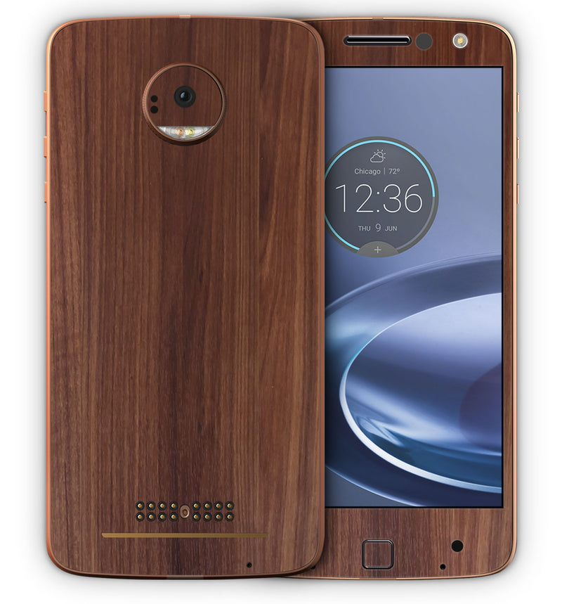 Moto Z Force Phone Skins Wood Grain - JW Skinz
