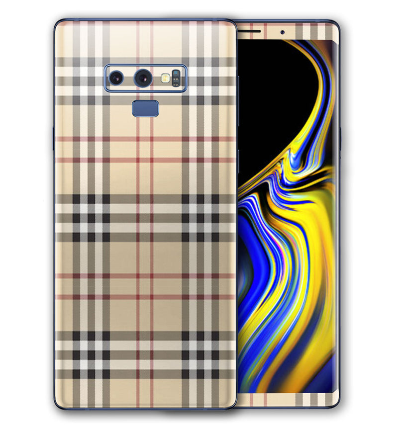 Galaxy Note 9 Phone Skins Plaid (Pre-Order)