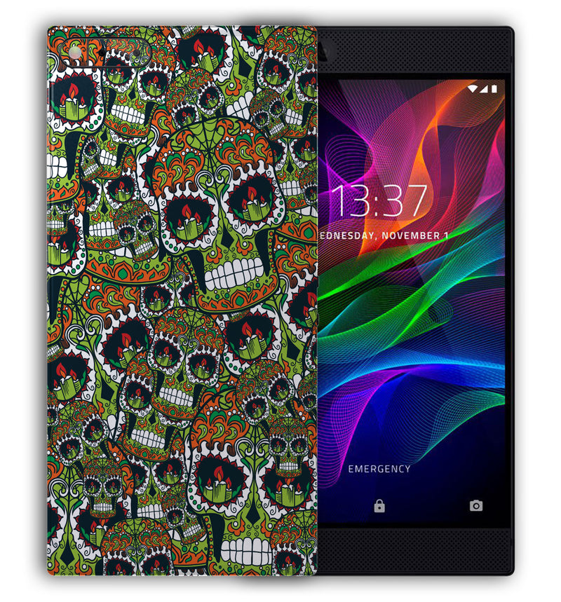 Razer Phone Sugar Skulls Collection - JW Skinz