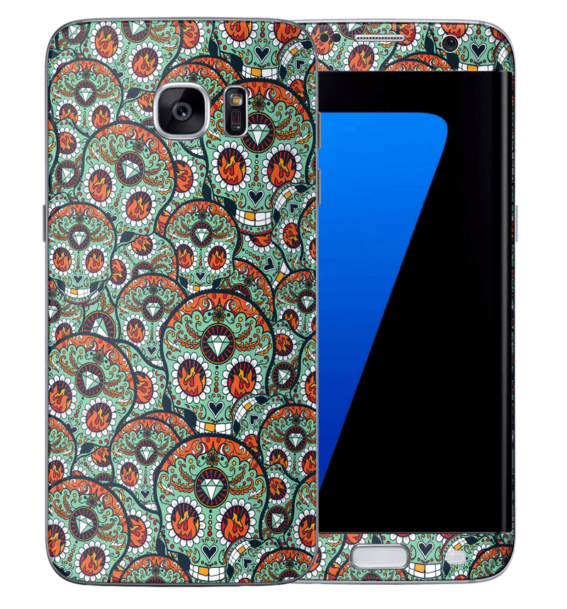 Galaxy S7 Edge Sugar Skulls Collection - JW Skinz
