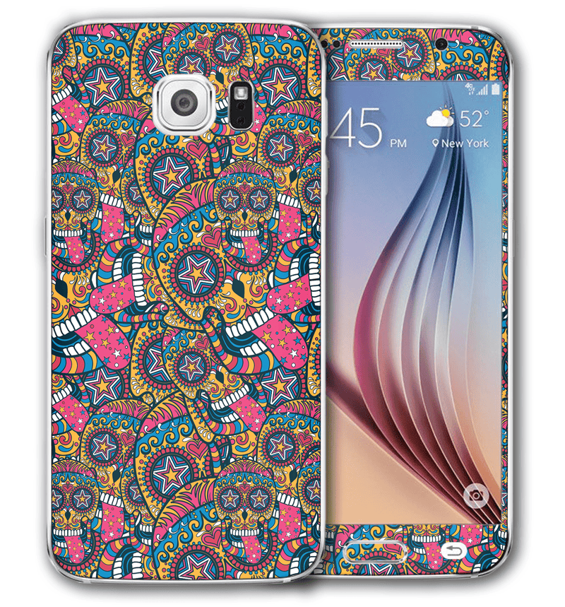 Galaxy S6 Sugar Skulls Collection - JW Skinz