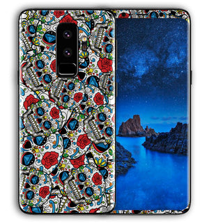 Galaxy S9 Plus Phone Skins Sugar Skulls - JW Skinz